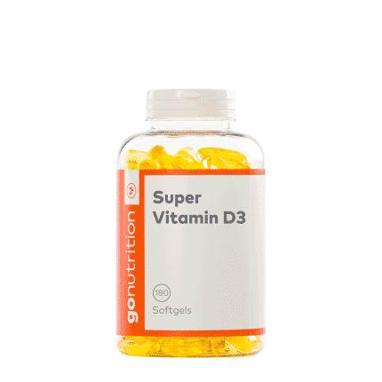 Plastikdose mit Etikett. Inhalt: Vitamin D3 Pillen von GoNutrition