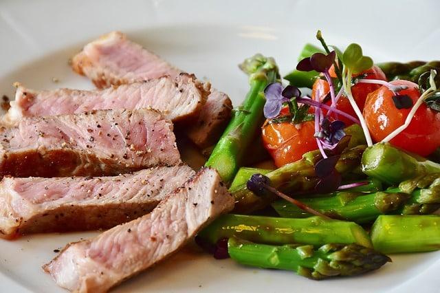 Low Carb Gericht Spargel mit Steak